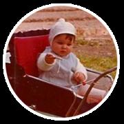 Ein Bild von Heiko T. Ciesinski als Baby im Kinderwagen